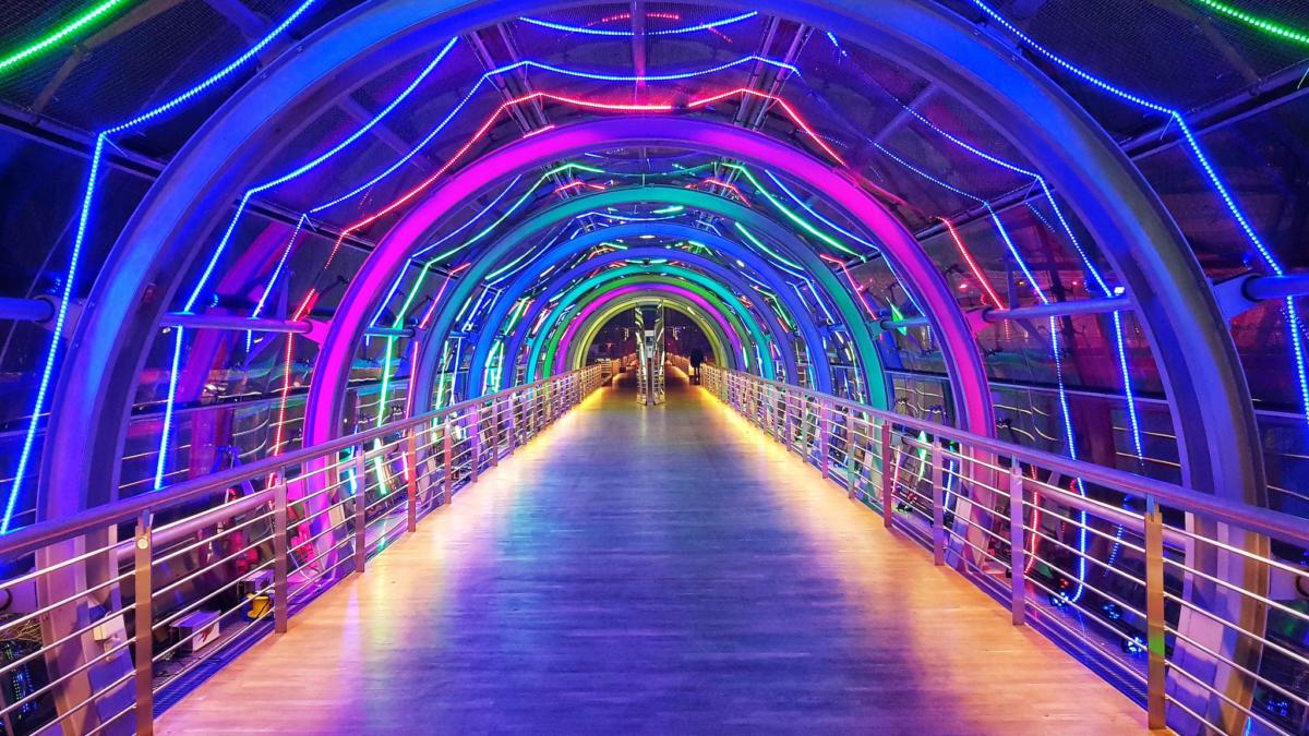 35C3 LED strip tunnel